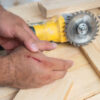 Worker suffering laceration to hand